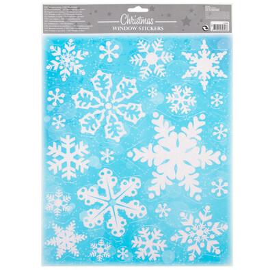 Vánoční okenní dekorace Flakes, bílá