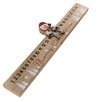 Dřevěný adventní kalendář Sněhulák, 40 x 11 cm