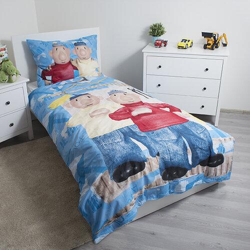 Jerry Fabrics Pat és Mat gyermek pamut ágynemű, kék 04, 140 x 200 cm, 70 x 90 cm
