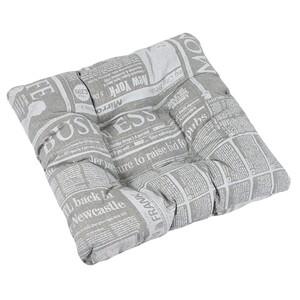 Bellatex Sedák Adéla Noviny šedá, 40 x 40 cm