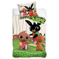 Bing Nyuszi gyermek pamut ágynemű - Keri parti, 140 x 200 cm, 70 x 90 cm