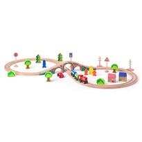 Woody Tor kolejowy Ósemka z pociągiem, 40 elementów