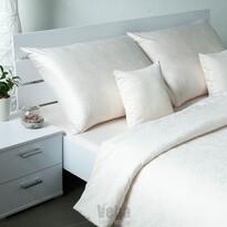 Veba Geon Tulipánok damaszt ágynemű, tejszín