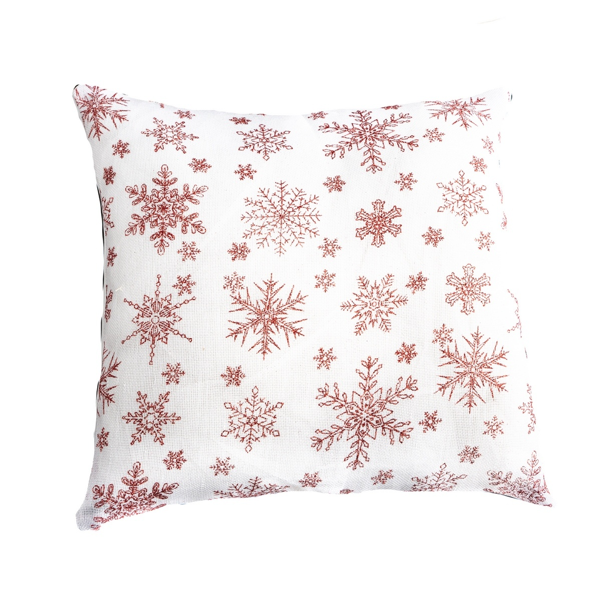 Dakls Vánoční povlak Vločka bílá, 40 x 40 cm
