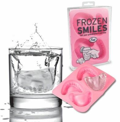 Formičky na led Zubní protéza, růžová