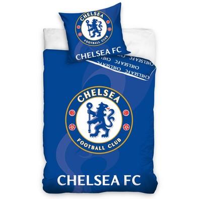 Bavlněné povlečení Chelsea FC blue, 140 x 200 cm, 70 x 80 cm
