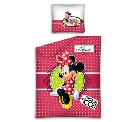 Dětské bavlněné povlečení Minnie Fashion Icon, 140 x 200 cm, 70 x 80 cm