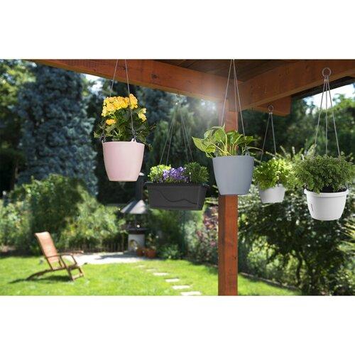 Gardenico Doniczka zawieszana Ariella biały, 25 cm