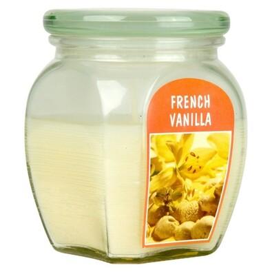 Svíčka French Vanilla, 12 x 9,2 cm, Bolsius, béžová
