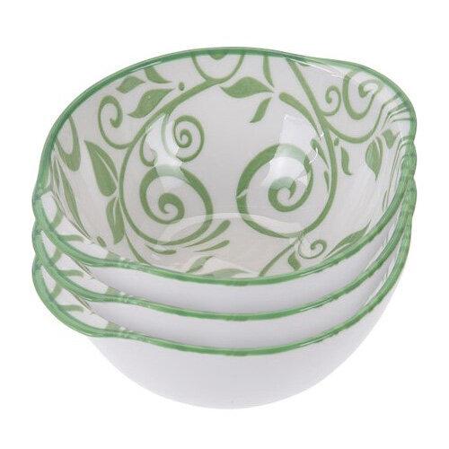 3 részes porcelántál készlet, zöld