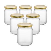 6dílná sada zavařovacích sklenic s víčkem, 540 ml