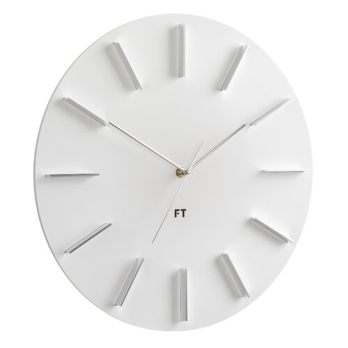 Future Time FT2010WH Round white Designové nástenné hodiny, pr. 40 cm
