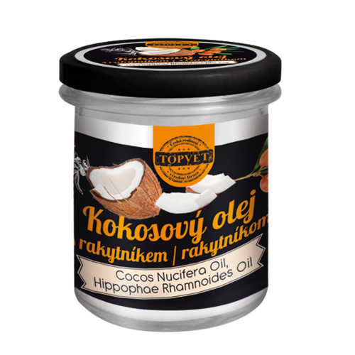 Topvet kokosový olej s rakytníkem 200 ml