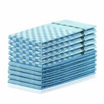 DecoKing Ścierka kuchenna Louie niebieski, 50 x 70 cm, zestaw 10 szt.