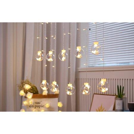 Sharks Lampki Kulki ciepła biała, 90 LED