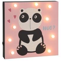 Nástěnná LED dekorace Hatu Panda, 26 x 4 x 26 cm