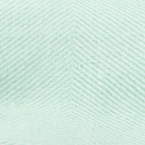 Pled din bumbac Altom, cu franjuri verde-mentol, 130 x 170 cm