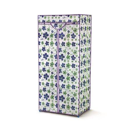 Textilní šatní skříň LUSH modrá