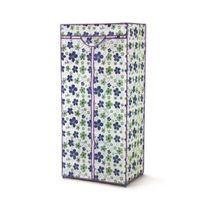 Bonita Textilní šatní skříň LUSH modrá