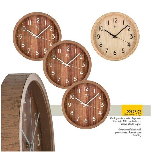 Lowell 00827N Stylowy zegar ścienny śr. 25 cm