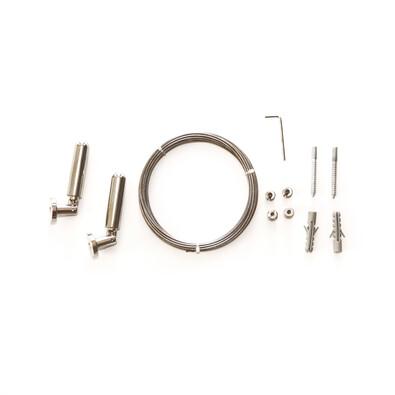 Set cablu cu întinzătoare Race, argintiu, 5 m