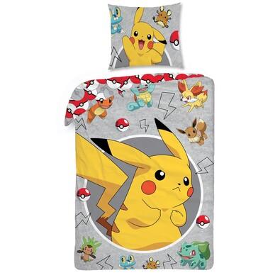 Pokémon pamut ágynemű, 140 x 200 cm, 70 x 90 cm