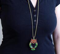 Lupa sovička, vícebarevná, 4 x 6,4cm