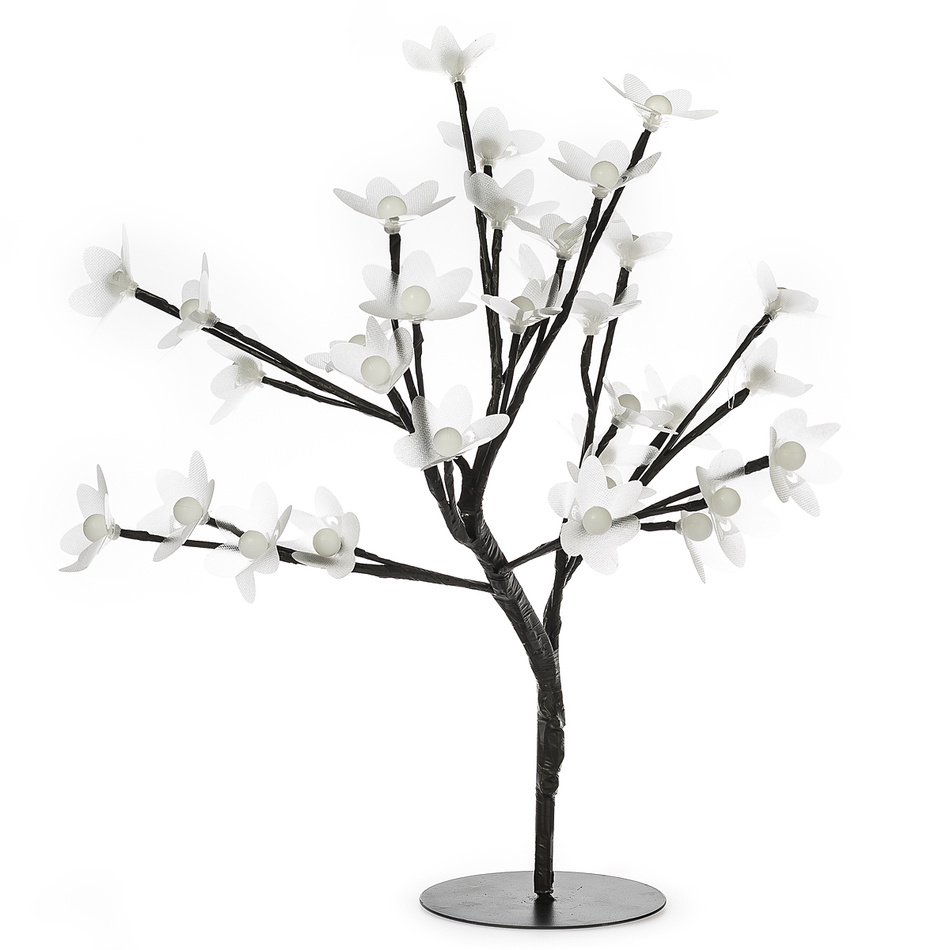 Svíticí stromeček s květy, 32 LED, v. 25 cm