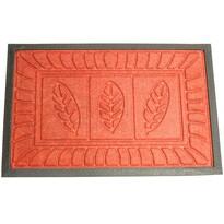 Levelek lábtörlő, piros, 40 x 60 cm
