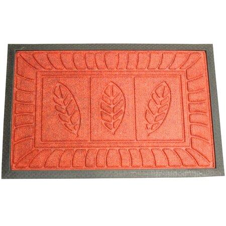 Rohožka Listy, červená, 40 x 60 cm