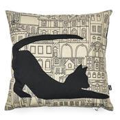 Polštářek Black Cat, 40 x 40 cm