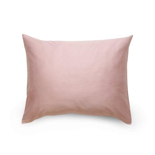 Povlak na polštář satén světle fialová / bílá, 70 x 90 cm