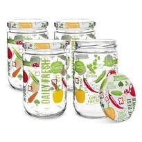 Orion Fruit fedeles befőzőüveg készlet 0,66 l, 4 db-os