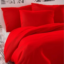 Luxury Collection szatén ágynemű, piros, 140 x 200 cm, 70 x 90 cm