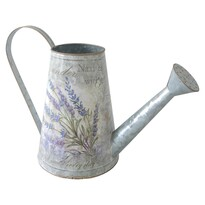 Lavender fém kanna, 16 x 22 cm