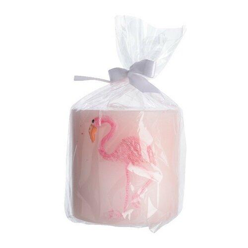 Dekorativní svíčka Flamenco růžová, pr. 7 cm