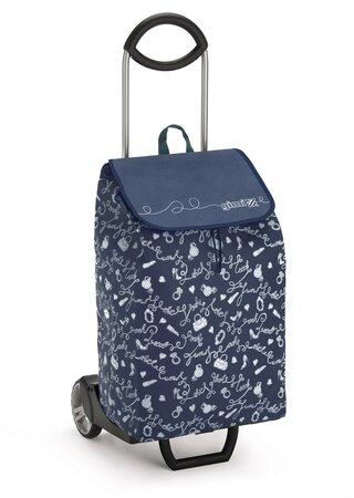 Nákupná taška na kolieskach EASY New modrá