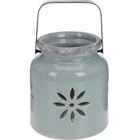 Porcelánový lampáš Fabara, zelená