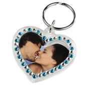 Přívěsek na klíče srdce 2 ks