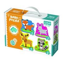 Trefl Baby puzzle Zvieratká v lese, 4v1