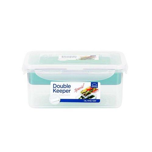 Lock & Lock Plastová dóza na potraviny s přihrádkou 1,4 l
