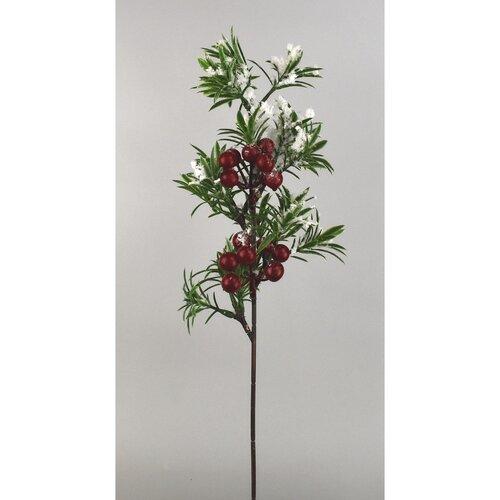 Dekorační zasněžená větvička Bobule, 40 cm