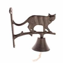Závesný liatinový zvonček Mačka, 18 x 18 x 7,5 cm