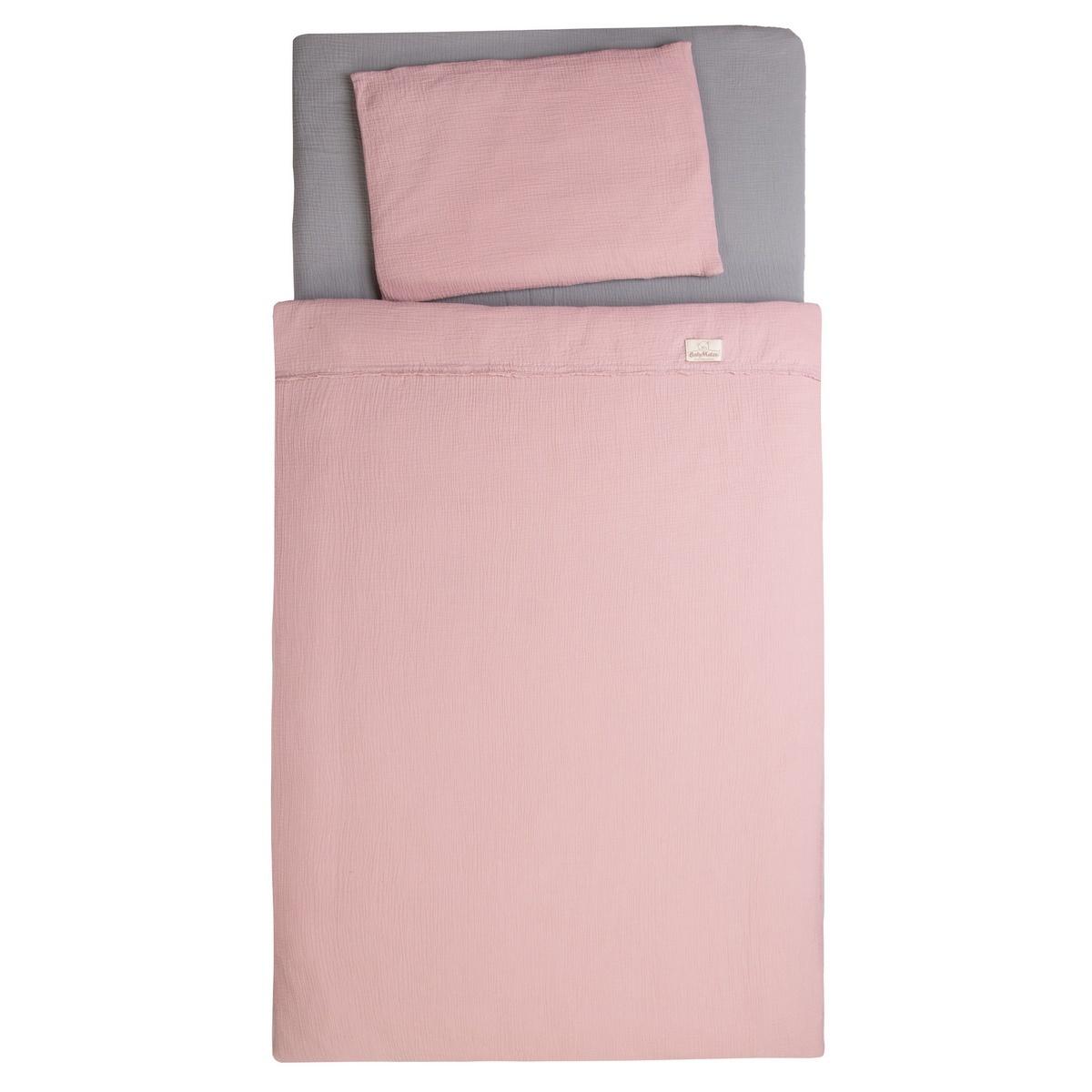 Babymatex Bavlnené obliečky do postieľky ružová, 100 x 135 cm, 40 x 60 cm