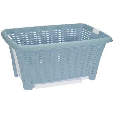Összerakható szennyestartó kosár, 38 l, kék