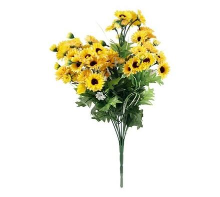 Umělá kytice žlutých květin