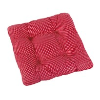 Sedák Adela prešívaný Bodka červená, 40 x 40 cm