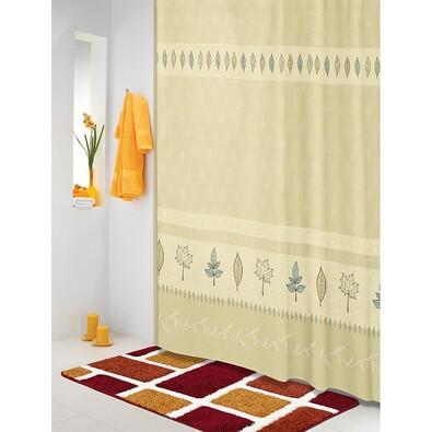 Sprchový závěs Lístky béžovotyrkysová, 180 x 200 cm