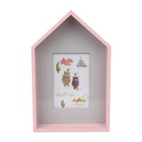 Ramă foto Altom Ursuleț, din lemn, 29,5 cm, roz