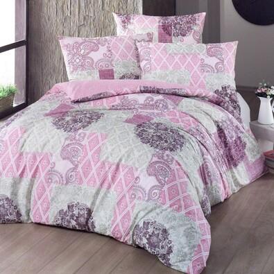 Bavlněné povlečení Ottorino růžová, 140 x 220 cm, 70 x 90 cm